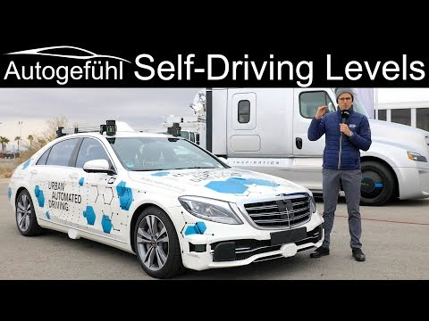 Levels of Autonomous Driving - Level 0 1 2 3 4 5 - what is what? Example Mercedes S-Class Prototype