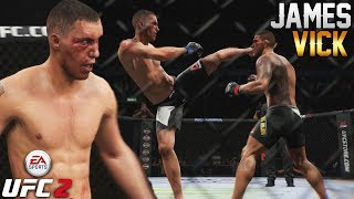 James Vick Is On The Rise! Sleeper At Lightweight On UFC 2 - EA Sports UFC 2 Online Gameplay