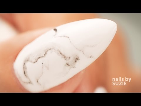 Marble Hand Painted Nail Art