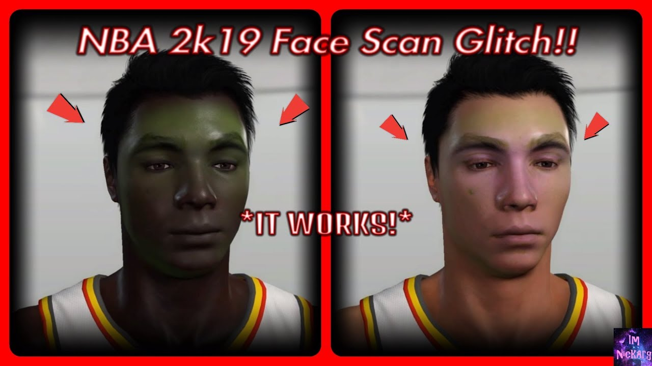 NBA 2k19 Face Scan Glitch Tutorial/ Method! *IT WORKS* | NBA 2k19