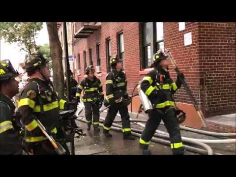 FDNY BOX 2985 - FDNY BATTLING MAJOR 5TH ALARM FIRE IN A MULT