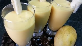 Mango N Banana Smoothie / Mango N Banana Lassi ( Cooking With Fouzia )