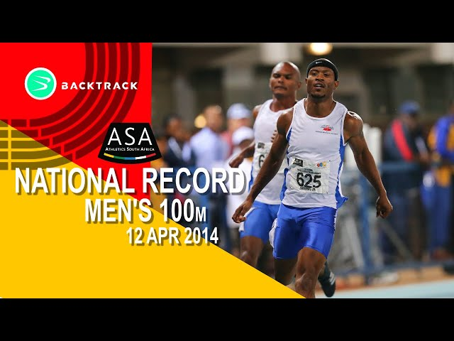 100m South African Record. Simon Magakwe- 9.98sec