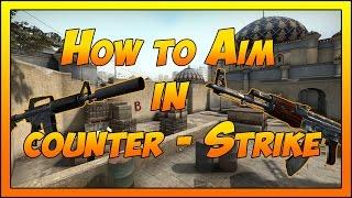 How to Aim In CS:GO - [ AK47  Vs.  M4A1-S ]  (Basics)