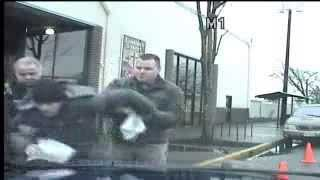 Police Attack Man Handing Out Leaflets [Dash Cam]