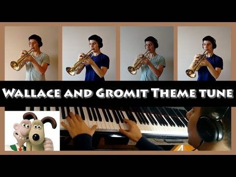 Wallace and Gromit Theme tune (Trumpet + piano cover)