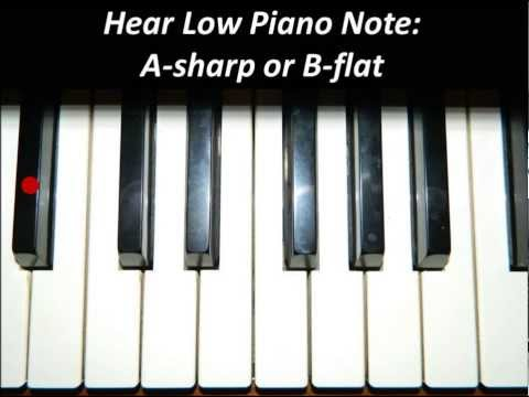 Hear Piano Note - Low A Sharp or B Flat