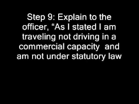 Refuse a traffic ticket No jurisdiction UCC 1308