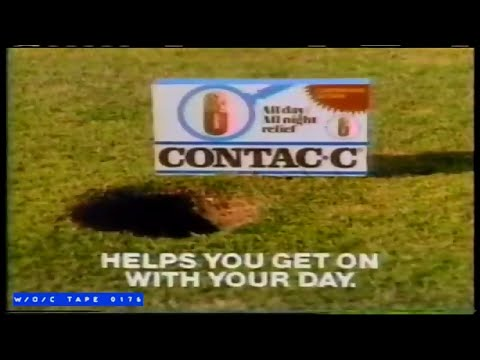 Contac-C Allergy Pills Commercial – 1985