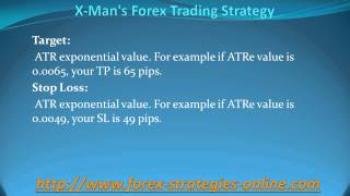 X Man's Forex Trading Strategy