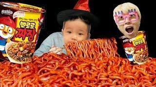 뽀로로방 뽀로로 짜장면 먹기 놀이 워터파크 키즈카페 Poror Black Noodle Hide and Seek for kids & children
