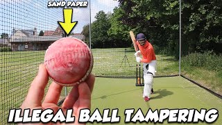 I Tricked The Batṡman with ILLEGAL Ball Tampering and the results were INSANE! (Future Dave Warner)