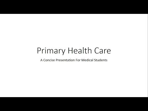 Primary Health Care (elements and principles) - PSM