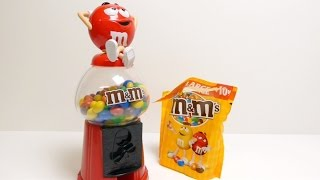 M&m's Gumball Machine - Candy Dispenser - Red Xmas Edition