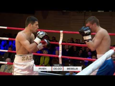 Pro Boxing Show 22/04/2017, Kyiv, UKR. Welterweight Mishiko Beselia, UKR VS Valentyn Piven, UKR