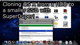 Cloning OS X from a HDD to a smaller SSD for free with SuperDuper!