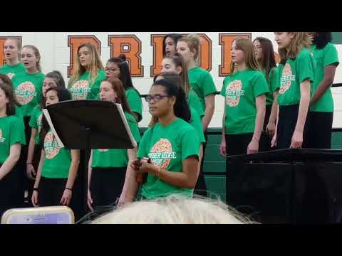 """Alex playing """"The Clinb"""" on violin Timber Ridge Middle School"""