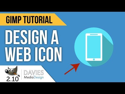 GIMP Tutorial: How to Design Website Icons in GIMP 2.10 (2018)