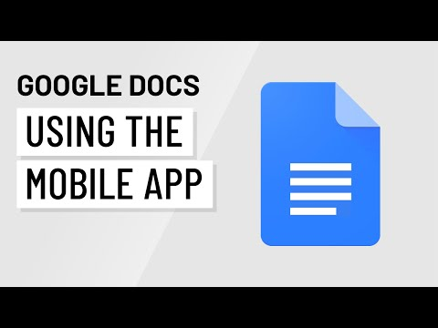 Using Google Docs On A Mobile Device