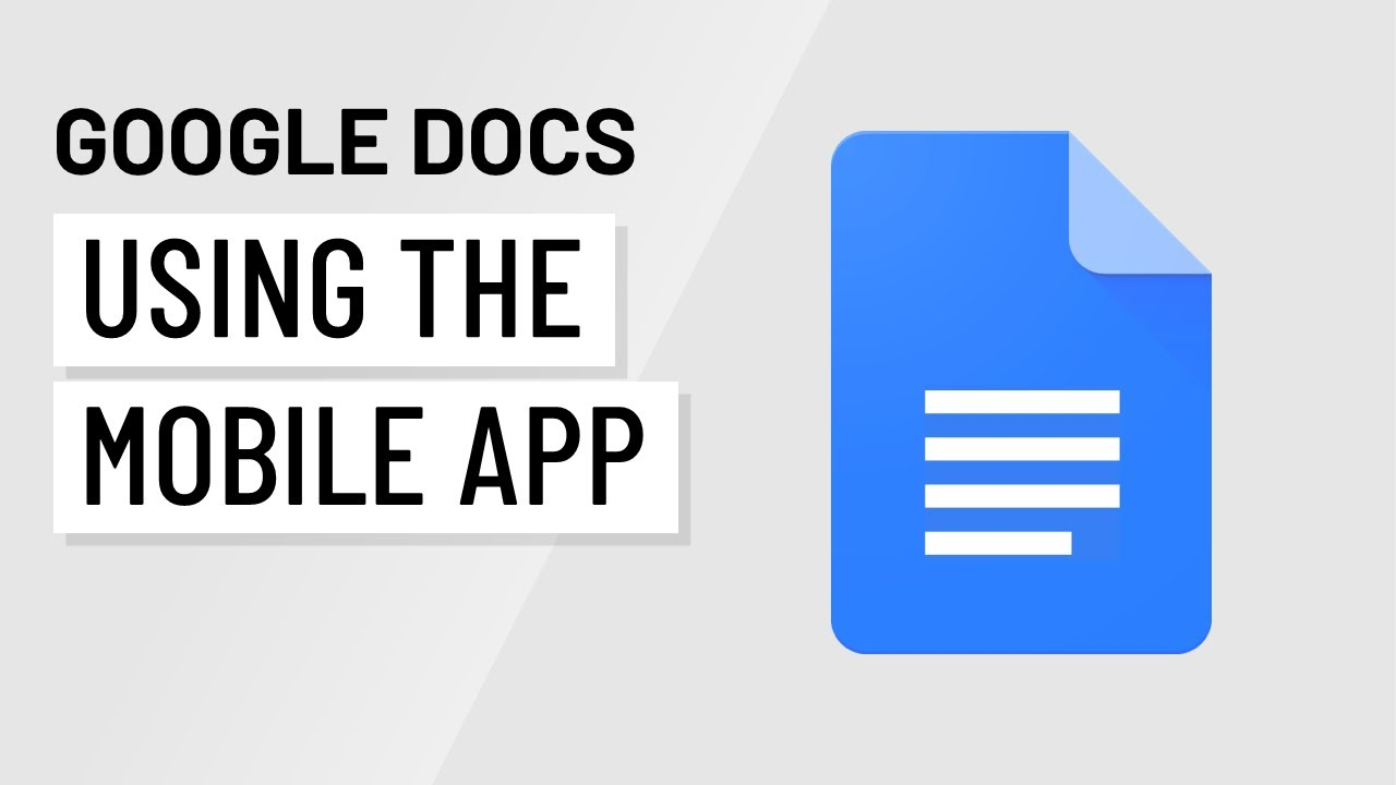 Using Google Docs On A Mobile Device Youtube