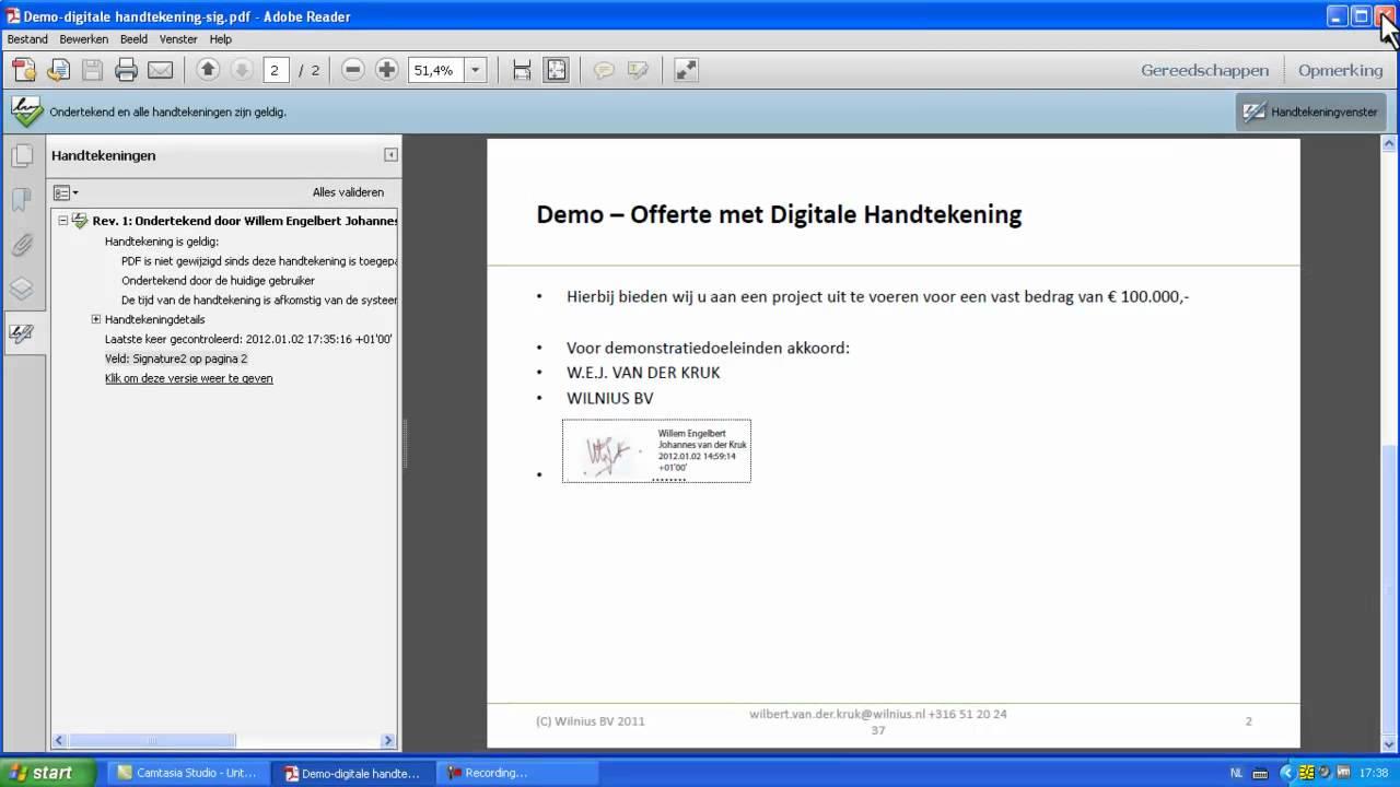 digitale handtekening online dating