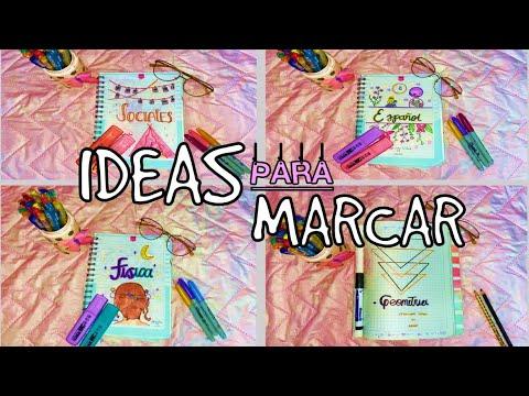 IDEAS PARA MARCAR-DECORAR TUS CUADERNOS (REGRESO A CLASES)/MARI URIBE