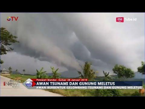 Penampakan Fenomena Alam Awan Bebentuk Tsunami & Gunung Meletus di Polewali Mandar - BIM 28/01