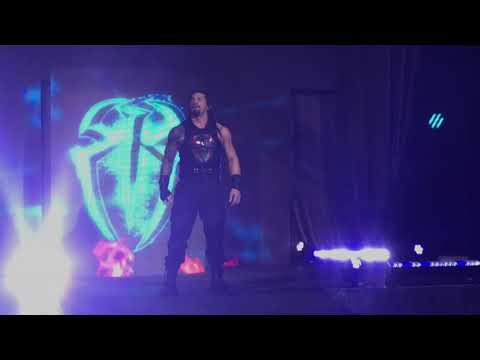 Roman Reigns entrance at WWE live event at Madison Square Garden on 3/16/18