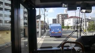 【前面展望】井高野車庫~十三~大阪駅前【大阪市交通局バス・93系統】