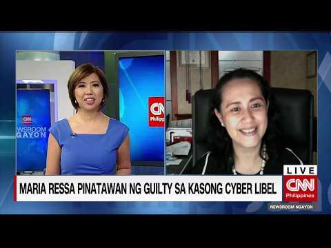 Maria Ressa pinatawan ng guilty sa kasong Cyber Libel