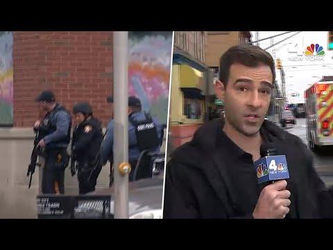 Jersey City Active Shooter: Gunshots Send WNBC Crew Running for Cover | NBC New York