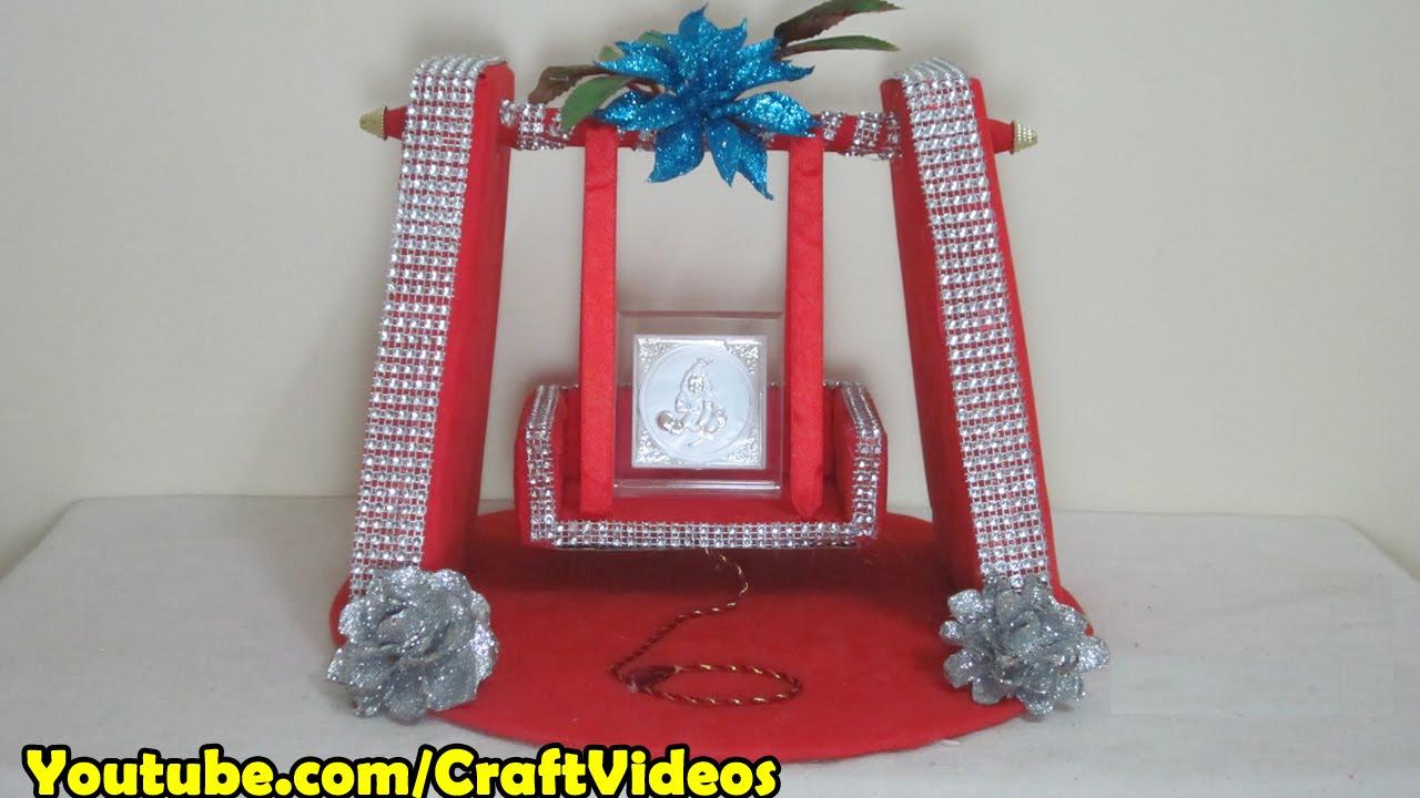 Jhula for krishna how to make for Decoration ka photo
