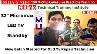 "32""Micromax Led Tv Standby,Dead Repair, Full Solution of Standby/Voltage Missing Fault@Niranjan Soni"