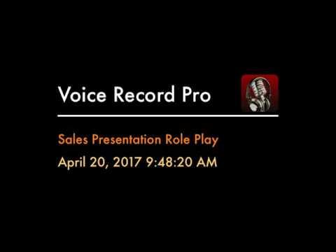 Sales Presentation Role Play