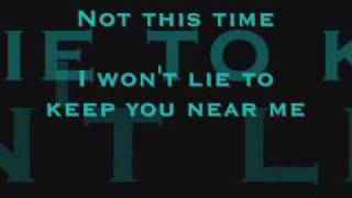 Evanescence - Lacrymosa Lyrics