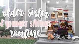 OLDER SISTER & siblings day in the life ♡ | bloxburg roleplay | alixia