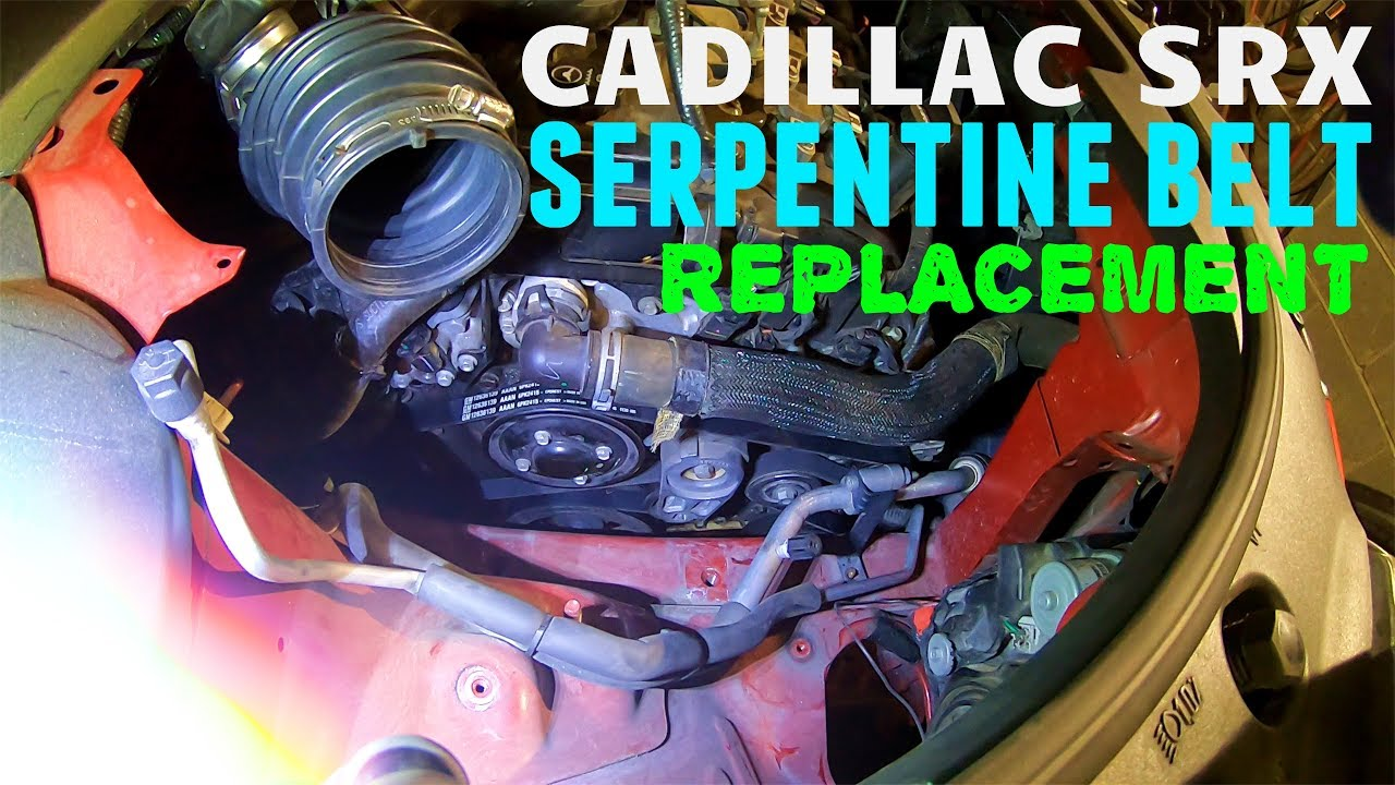 hight resolution of 2010 2016 cadillac srx serpentine belt replacement guide