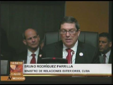 Canciller de Cuba: La OEA y su Secretario General son instrumentos de Estados Unidos