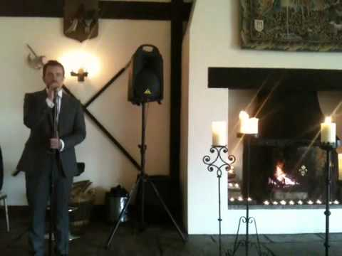 Matthew Lamb @ The Great Hall at Mains, Lancashire - singing Dean Martins 'Drinking song'