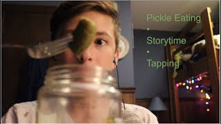 ASMR • Pickle Eating l Whispering l Mukbang l Channel Intro
