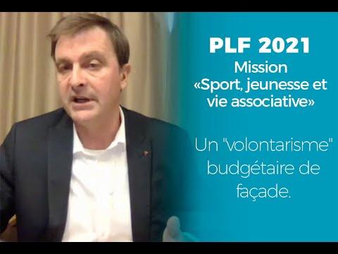 """PLF 2021 - Mission """"Sport, jeunesse et vie associative : un """"volontarisme"""" budgétaire de façade."""