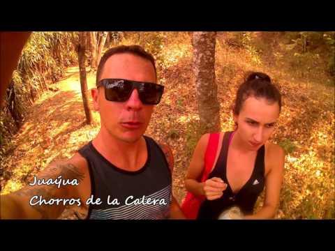 Trip El Salvador - El Tunco , Sunzal, Las Flores, Archaeological sites, Waterfall