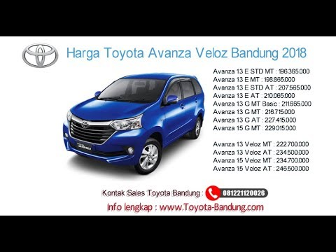 Harga Grand New Veloz 2019 Spesifikasi Avanza 2016 Toyota Dan Bandung 081221120026