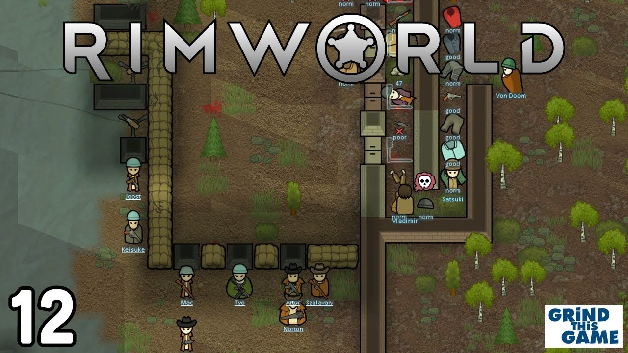 Rimworld 1 0 - Raids During a Heatwave & Medicine! #12 - Boreal Forest Base  [4k]