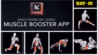 How to do less than 10 minute simple daily exercise at home using Muscle Booster app - Day 1 screenshot 1