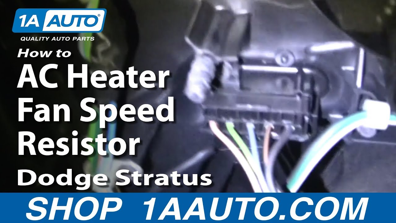 How To Replace Blower Motor Resistor 01 04 Dodge Stratus