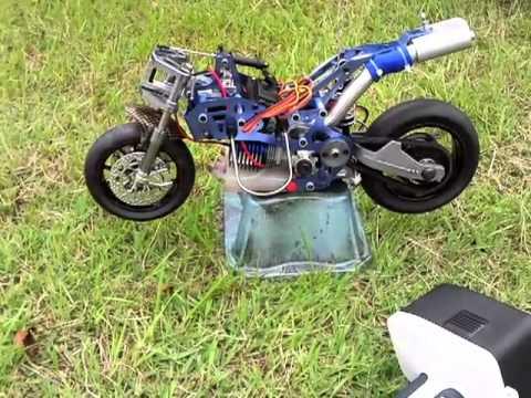 Hobbyking 1:5 Scale Nitro RC Motor Bike Ready to Go - YouTube