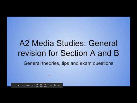 A2 Media Studies: General Revision, Theories, Tips And Exam Questions