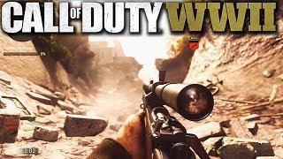 "Call of Duty World War 2 SNIPING GAMEPLAY + NEW ""WAR"" GAME MODE! (WALLBANG SNIPER CLIP)"