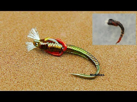 Fly Tying A Spring Olive Midge Pupa / Chironomid By Mak